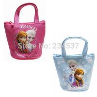 Kids Girls Zipper Mini Bag Frozen Elsa Anna Handbag Coin Purse Christmas Gift