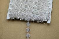Free shipment A Grade Crystal Rhinestone Trim Rose Shape Clear Setting Christmas decoration