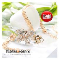 Metal ladybug decoration fashion belt all-match female belly chain thin belt
