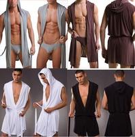 Men Sexy Bathrobe Bath Robe / Male Sexy Underwear Sleepwear Pajamas / Men Nightgown Robes Without Briefs
