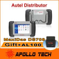 [Autel Distributor] Top 2014 Professional 100% Original + 5 Languages + Free Update via Internet Autel MaxiDAS DS708 Scanner