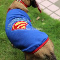 Hot models! arge dog clothes superman design big dog cosplay t shirt SZ 20-30 RED BLUE