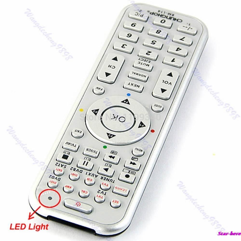 Universal 14in1 Smart Remote Control With Learn Function For TV CBL DVD SAT DVB free shipping(China (Mainland))