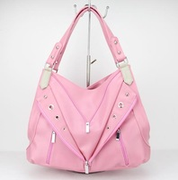 H070(pink) 2014 New Arrival Lady Popular Embossed Pattern PU Handbag,Free shipping!