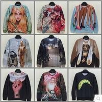 Europe and America new brand 1991inc series Star Wars Stormtrooper /flowers/girl robot men/ women sweatshirts couple 3d sweater