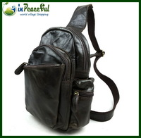 First layer cowhide Male genuine leather chest pack  / messenger bag / vintage shoulder bag-JB245