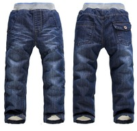 BP091 Free shipping new 2014 children jeans warm and thick baby boy's pants good quality kids trousers retail and wholesale