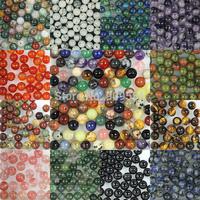 Wholesale 130pcs/pack 6mm Natural Stone Round Loose Beads Jewelry Beads,agate/jasper/rose quartz/tiger's eye beads,pick stone!