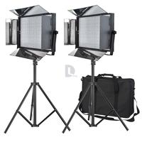 2* 3200k-5600k 72W Bi-color MMBEL LED Studio Video Light Photography Lamp Kit+2m Mini Light StandHolder+MMBEL Light Carrying Bag