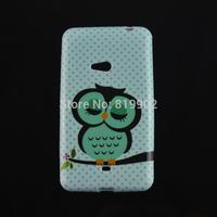10pcs/lot Cartoon Cute Shy Owl Soft TPU Protective Cover Case for Nokia Lumia 625 phone case