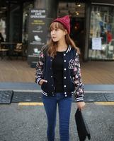 2014 female outerwear baseball shirt baseball clothing sweatshirt cardigan fast free shipping