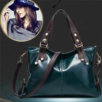 Quality Goods!! 2014 Women Messenger Bags Handbags Vintage PU Leather Bag Portable Shoulder Bag Lady Cross-body Bolsas CX840400