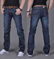 New 2014 Fashion Slim Men Jeans  Newly Style Zipper fly Straight Cotton Men Jeans trousers  Jeans pants