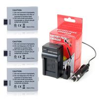 3pcs 1200mAh LP-E5 LPE5 LI-ION Camera Battery + Charger For Canon 450D 500D 1000D, for canon accessories + wholesale