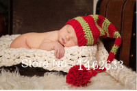 Free shipping The cute stripes style baby hat handmade crochet photography props newborn baby cap(China (Mainland))