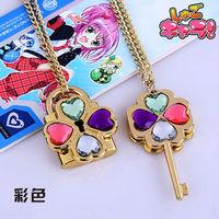 Japan Anime Shugo Chara! Hinamori Amu Clover  KEY Necklace  set 6 colors