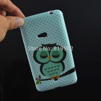 For Nokia Lumia 625 cellphone case,Cartoon Cute Shy Owl Soft TPU Protective Skin Back Cover Case