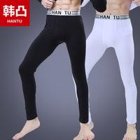 Warm pants autumn and winter male plus velvet plus size long johns separate internality pajama pants tight legging long trousers