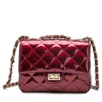 2014 fashion small gridl women's messenger bag one shoulder cross body bag color block candy color women's chain bags
