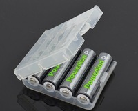 New aa aaa batteries box rechargable battery AA  AAA  storage box container aa ni-mh rechargeable battery packaging box10pcs/lot