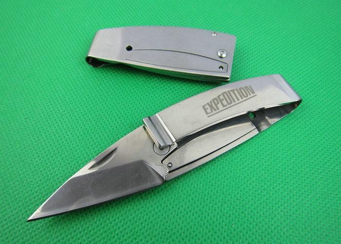 2Pcs Lot L075 Wallet knife Pocket knife 440C Blade Camping tool Survival Knives Rescue tools Pocket
