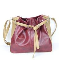 H068(khaki&darkred) Ladies shopping bags, big tote/Fashion Korean Simple Style PU Leather Handbag,Free shipping!