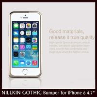 "NILLKIN Gothic Metal Border Ultrathin Arc Side Smart Metal Bumper Case for Apple iPhone 6 4.7"" + 30pcs/lot DHL Free Shipping"