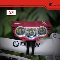 solarstorm T6 X3 imported high power LED bicyle light 2200lm CREE XM-L U2 CW LED Free shipping