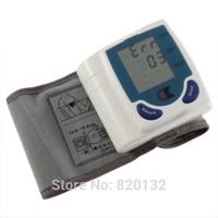 Free Shipping 2014 Best Selling Digital LCD Wrist Blood Pressure Monitor Meter Sphygmomanometer Blood Pressure Measurement Tool