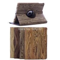 Free shipping JX Wood-grain 360 Rotating Smart Stand Leather Case Cover for Apple iPad  mini  IPAD MINI with retina display