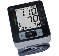 Free Shipping Health Care Monitor Machine Digital LCD Cuff Arm Wrist Blood Pressure Monitor Heart Beat Meter Sphygmomanometer