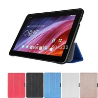 Slim Folding Silk Pattern 3-Folders Slim Folding Stand Leather Case Cover Protective Skin For ASUS Transformer Pad TF103C