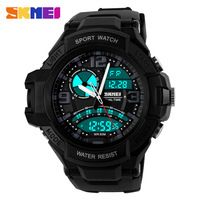 Moment of beauty fashion sports men and boys table outdoor sports waterproof electronic trend pointer dual display watches for m