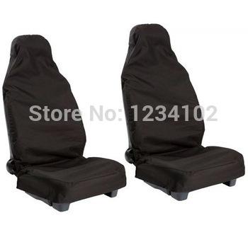 2x Waterproof Nylon Front Universal Car Van Seat Covers Protectors Heavy Duty(China (Mainland))