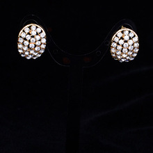 European Fashion Women Rhinestone Earrings Statenment Party Indian Jewlery High Quality Gothnic Style Earrings E09