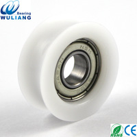 China Top Quality  8x27x10.5mm Bearing Roller 698z u groove nylon roller wheel