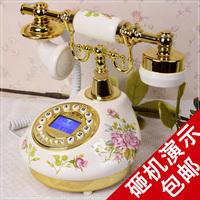 Tqj ceramic antique rustic landline telephone vintage telephone