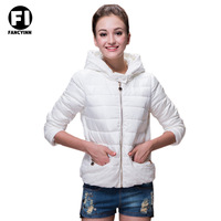 Fancyinn 2014 Winter Women Hooded Warm Down Jacket Movement Coat Thick Fleece Thick Padded White Cotton Down