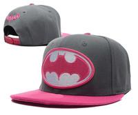 4 Colors 2014 Hot Sale Fashion New Casual Embroidery Batman LOGO Snapbacks Hip-Hop Hats Adjustable Baseball Caps for Men & Women