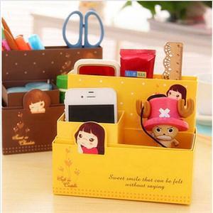 2014 New BA Multi-Function DIY Folding Paper Storage Box Organizer Fashion Jewelry Container Desk Decor AB(China (Mainland))