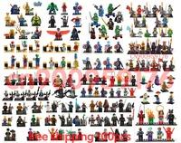 100pcs/lot Castle Star War Captain America Super Hero Teenage Mutant Ninja Turtles Minifigure  Building Blocks