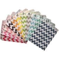 "(200pcs/lot) Colorful Chevron/Striped/Dots Favor Bags, Bitty bag, Party Food Paper Bag 5""x7"" 56 designs"