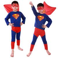 Fun little Halloween party performing activities children Superman Superman Costume Dress Suit