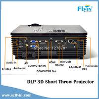 Brand New ! DLP 3D HD Projector 1080P Ultra Short Throw XGA HDMI LAN Digital Cinema Projector FTY190