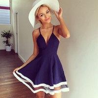 2014New Fashion Women Dress Sexy Deep V-neck girl Dress High Quality Celebrity Mini Bodycon Dress Casual Party Ball Gown Dress