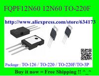Free Shipping FQPF12N60 12N60 TO-220F 10pcs/lot