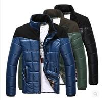 Men's wadded jacket 2014  fashion slim stand collar cotton-padded jacket male thickening wadded jacket coat