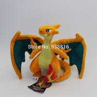 NEW Retail Pokemon Pikachu Soft Plush Toys Sale Cartoon 25cm Charizard Stuffed Animal Dragon Dolls