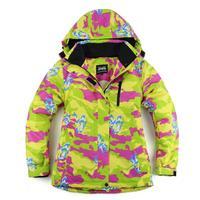 2014 Top Fashion Color Bar Lady Women Ski Jacket Waterproof Windproof Snowboard Ski Jackets Warm Ski Suit Free Shipping 808