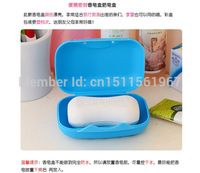 2014 fashion lovely soapbox, travel portable soap dish, plastic soap dish, Free Shipping, Wholesale S01